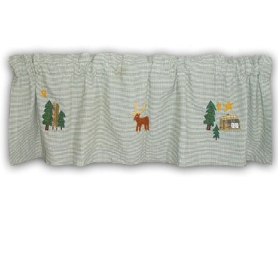 Patch Magic Moose Cotton Rod Pocket Tailored Curtain Valance