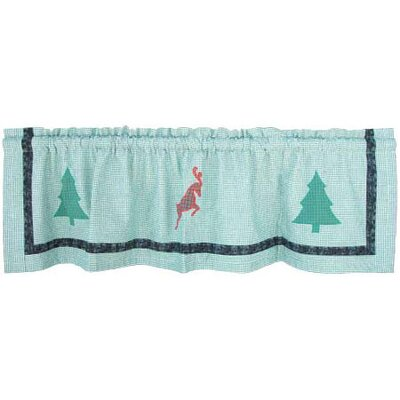 Patch Magic North Pole Fish Tales Cotton Rod Pocket Tailored Curtain Valance