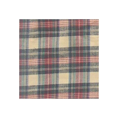 Cream Tartan Plaid Twin Bed Skirt / Dust Ruffle