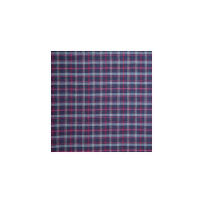 Patch Magic Grey and Navy Blue Plaid, and Red Lines Napkin (Set of 4)