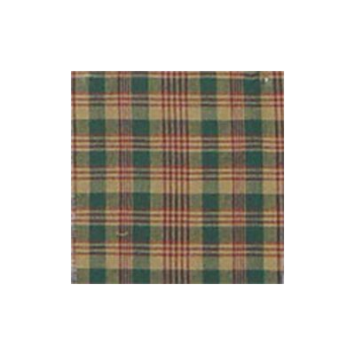 Green and Warm Brown / Red Plaid Bed Curtain