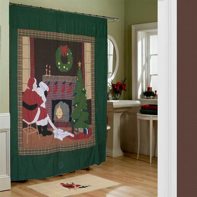Patch Magic Santa by the Fireside Shower Curtain