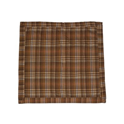 Patch Magic Brown Beige Dobby Checked  Fabric Sham