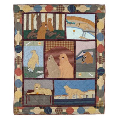 Patch Magic Golden Friends Cotton Throw