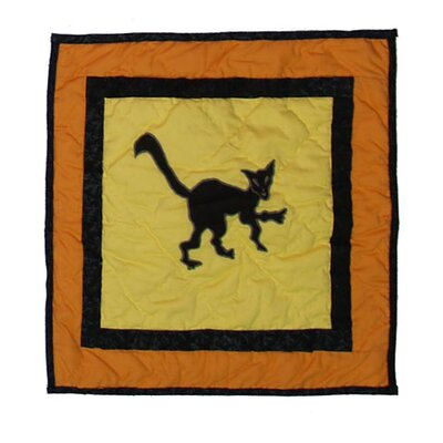 Halloween Cat Cotton Toss Pillow