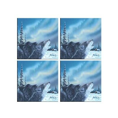 McGowan Tuftop Van Zyle Wolf Duet Coasters (Set of 4)