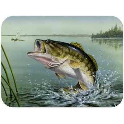 McGowan Tuftop Large Mouth Bass Cutting Board