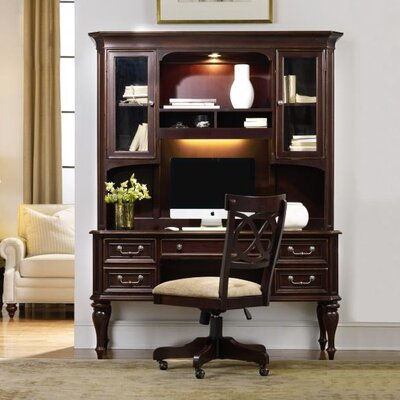Envision by Hooker Furniture Moccato Computer Credenza Hutch with 2 Utility Drawers