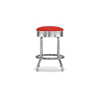 Chromcraft Retro Backless Counter Height Stool