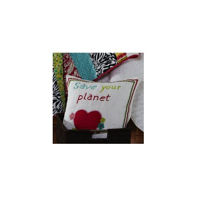 Amity Home Abby / Jane Save the Planet Decorative Pillow