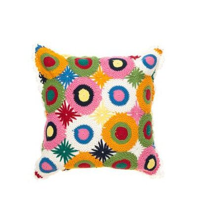 Amity Home Crochet Pillow in Multi