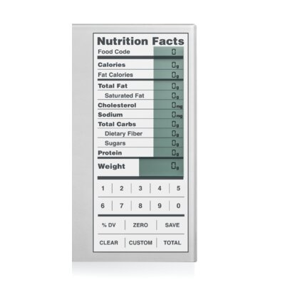 Kitrics Perfect Portions Digital Scale with Nutrition Facts Display in Silver