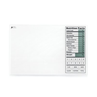 Kitrics Perfect Portions Digital Scale with Nutrition Facts Display in White