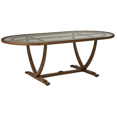 Woodard Landgrave Vienna Oval Umbrella Table