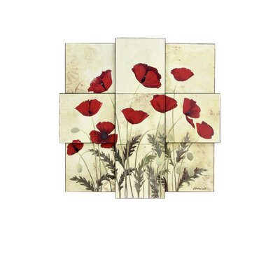 Style Craft Poppies Wall Decor