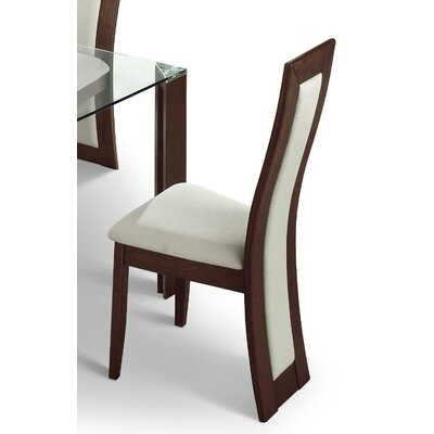 Julian Bowen Mistral 4 Chair Glass Dining Set with Walnut