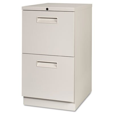 Maxon Freestanding Letter-Size Pedestal File with Two File Drawers in Gray