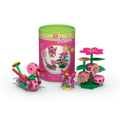 60 Piece Superstructs pinklets LILIES & FRIENDS Building Set