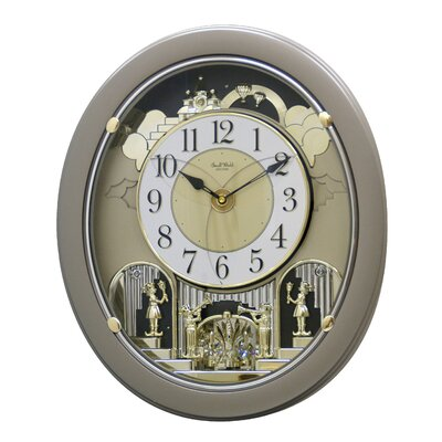 Rhythm U.S.A Inc Golden Stars Melody Wall Clock
