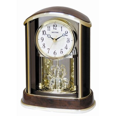 Rhythm U.S.A Inc Crystal Flare Melody Clock