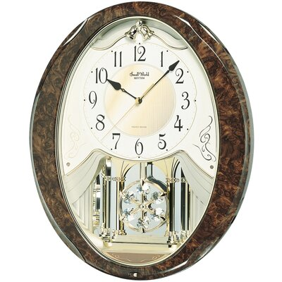 Rhythm U.S.A Inc Snowflake Legend Melody Wall Clock