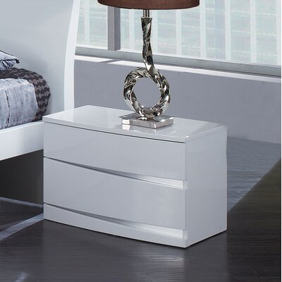 Global Furniture USA Aria 2 Drawer Nightstand