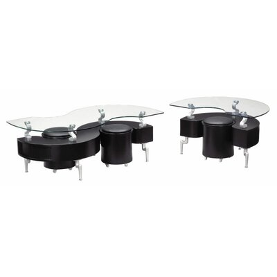 Global Furniture USA Sarah Coffee Table with Stool