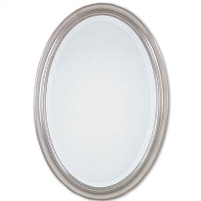 Uttermost Petite Manhattan Oval Mirror in Champagne Silver Leaf
