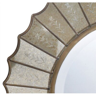Uttermost Amberlyn Round Mirror in Antique Gold Leaf