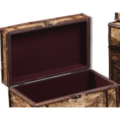Uttermost Birch Bark Boxes in Wood - Set of 3