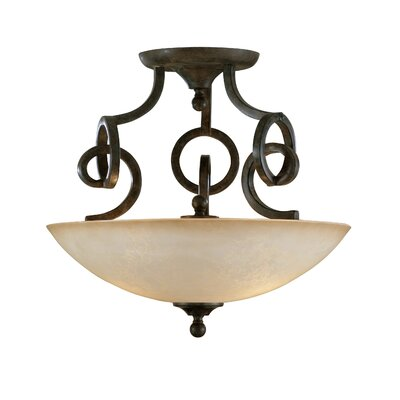 Uttermost Legato 3 Light Semi Flush Mount