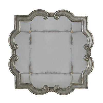 Uttermost Prisca Etched Mirror in Distressed Silver Leaf