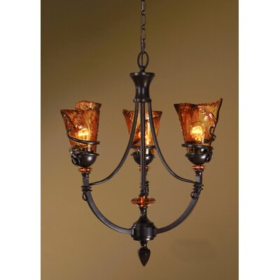Uttermost Vitalia 3 Light Chandelier