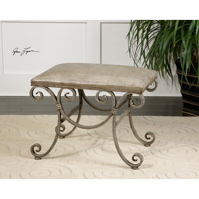 Uttermost Leontina Metal Bench