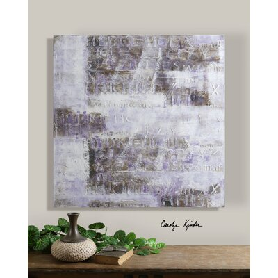 "Uttermost Lavender Story Canvas Wall Art By Carolyn Kinder - 40"" x 40"""