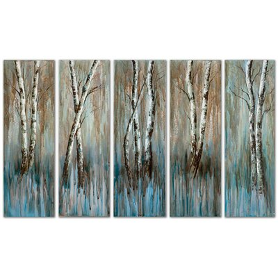 Birch Family Frameless Art (Set of 5)