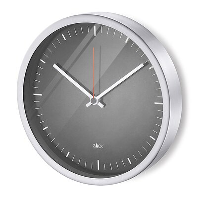 ZACK Durata Round Quartz Wall Clock in Black