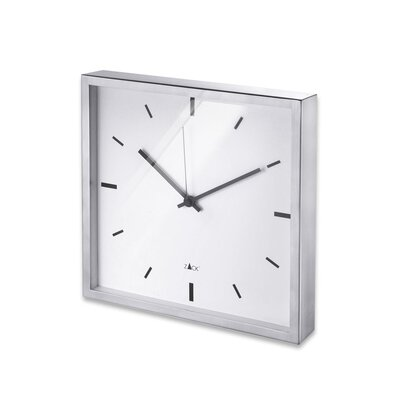 ZACK Durata Square Quartz Wall Clock in White