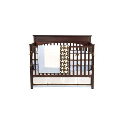 Bacati Metro 4 Piece Crib Bedding Set in Blue / White / Chocolate