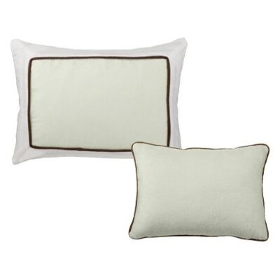 Bacati Metro Set of Two Decorative Pillows in Lime and Chocolate