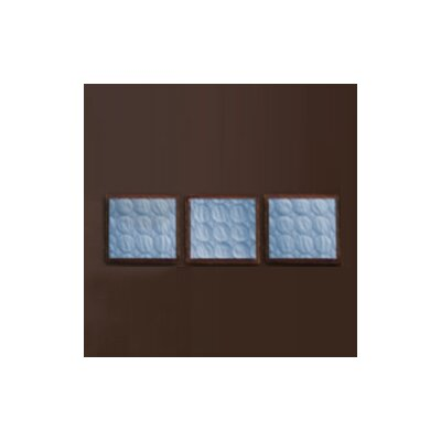 Quilted Circles Three Piece Wall Hangings in Blue and Chocolate