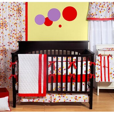Bacati Sateen Sprinkles Crib Bedding Collection