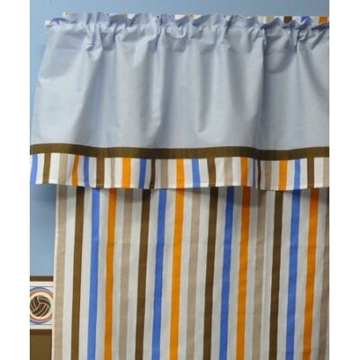 Bacati Mod Sports Stripes Curtain Panel