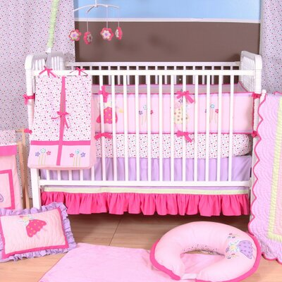 Bacati Fairyland 3 Pieces Crib Bedding Set
