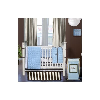 Bacati Quilted Circles 3 Piece Crib Bedding Set