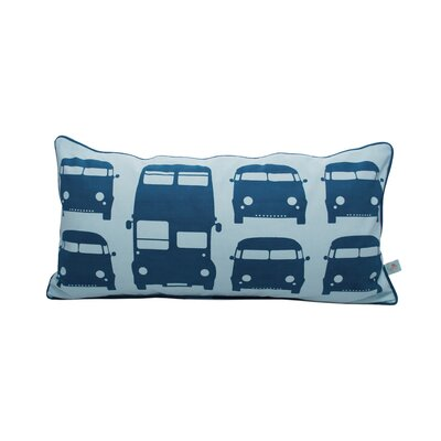 ferm LIVING Rush Hour Kids Organic Cotton Pillow in Turquoise
