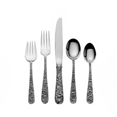 Kirk Stieff Repousse 66 Piece Dinner Flatware Set