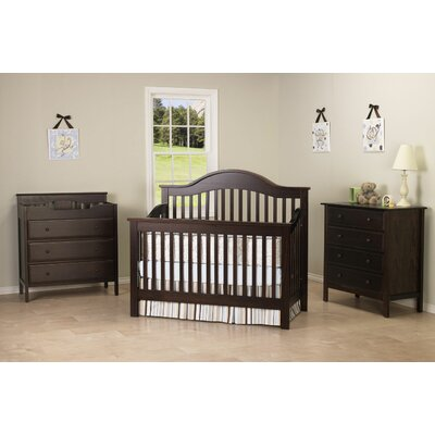 DaVinci Jayden Two Piece Convertible Crib Set with Toddler Rail in Espresso