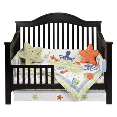 DaVinci Jayden Two Piece Convertible Crib Set with Toddler Rail in Ebony Black