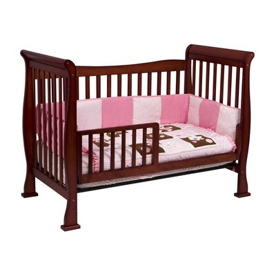 DaVinci Reagan 4-in-1 Convertible Crib with Toddler Rail in Cherry